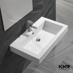 Cheap Price White Marble Stone Washbasin for Bathroom Decoration pictures & photos