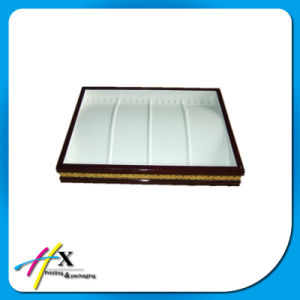 Customized Wooden jewelry Display Tray with Velvet Lining pictures & photos