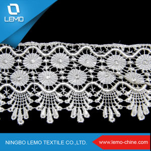 Lemo Wholesales White Stretch Lace, Lace Fabric Embroidery pictures & photos
