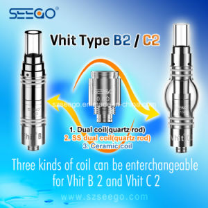 Seego Stainless Steel Dual Coil Atomizer New Upgrade Design for Thick Oil pictures & photos