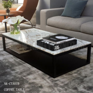 Captivating High End Wooden Tea Table Modern Marble Coffee Table (NK CTA013)