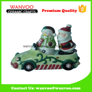 Christmas Decoration Two Santa Claus Statue Made of Ceramic material pictures & photos