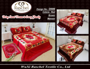 Bedding Sets of 100% Polyester Raschel Super Soft Quality Blanket Sets