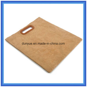 Simple Design DuPont Paper Tote Bag /Eco Friendly Tyvek Paper Shopping Bag/Smart Gift Handbag with PU Leather Handle pictures & photos