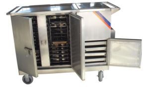 Stainless Steel Hospital Medical Electric Heating Food Trolley (THR-FC001) pictures & photos