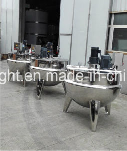 Good Quality Stainless Steel Industrial Cooking Kettle with Mixer pictures & photos
