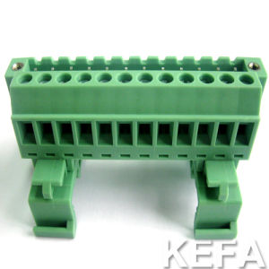 DIN Rail Plugable Terminal Block with 5.08mm Pitch for Wire to Wire Connection pictures & photos