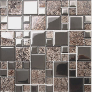 Silver Crystal Glass Mosaic Tile for Living Room and Bathroom (FY4823C) pictures & photos