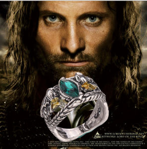Metal Ring of Barahir Aragorn Gondor The Hobbit Lord of The Rings Lotr USA Size No. 6-10 pictures & photos