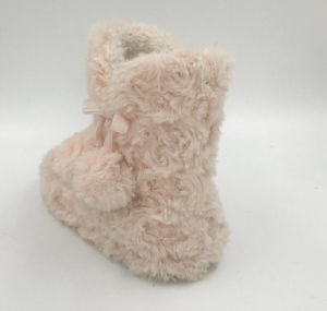 Childrens Cute Pink Pompom Boots pictures & photos