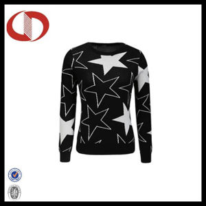 Wholesale Long Sleeve O-Neck Knitted Ladies Sweater pictures & photos