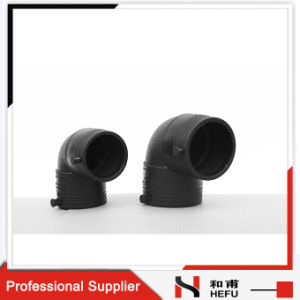 HDPE China 90 Degree Equal Pipe Fitting Elbow pictures & photos