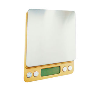 2017 New Design Luxury Golden Kitchen Digital Scale pictures & photos