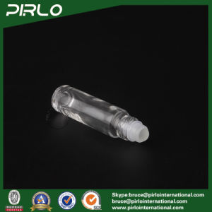 10ml Clear Glass Roll on Bottle with Glass Roller and Red Cap pictures & photos