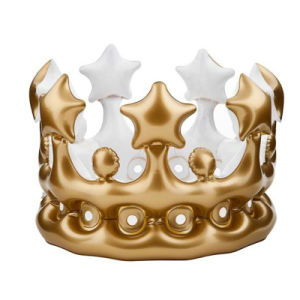 PVC Inflatable Gold Crown for Family Party pictures & photos