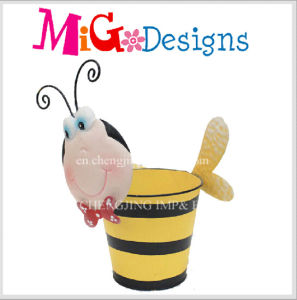 Lovely Baby Bee Metal Sale Decoration Animanl Planter pictures & photos