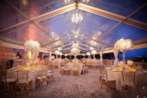 Romantic and Luxury Clear Roof Top Wedding Tent in 12m Width for 300-400 People
