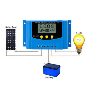 PWM 10A Solar Charge Regulator Controller with USB Charge 12V 24V LCD Display pictures & photos