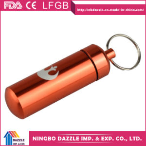 Mini Pill Box Keychain Wholesale Metal Pill Box pictures & photos