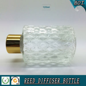 120ml Round Reed Diffuser Glass Bottle with Gold Aluminum Lid pictures & photos