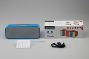 2017 China Factory Rechargeable Portable Lights Bluetooth Speaker with Aux & Mic & USB TF Card Slot pictures & photos