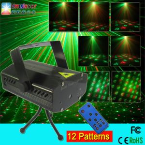 Cheap Mini Laser Light 12 in 1 Effect Mini DJ Stage Light with Remote Control pictures & photos