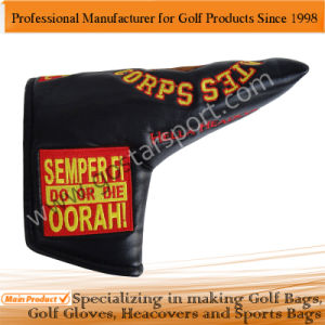 Embroidery PU Golf Blade Putter Headcover pictures & photos