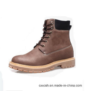 Fashion Slip-on Matte Leather Military Ankle Boots pictures & photos
