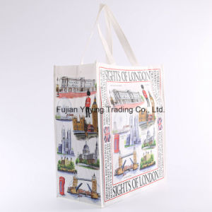 Laminated Tote Non Woven Shopping Bag with Customizd Size (YYNWB066) pictures & photos