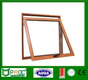 Aluminum Profile Top Hung Window with Wood Grain Finished pictures & photos
