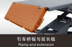 Perfect Quality Two Post Car Lift Car Hydraulic Lifts with Floor Plate pictures & photos