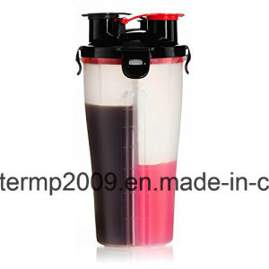 800ml Plastic Double Separated Shaker Bottle BPA Free pictures & photos