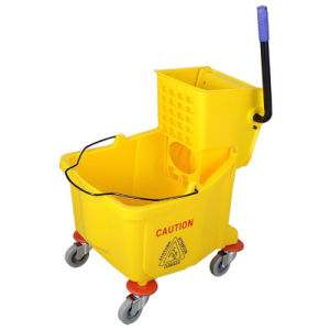 36L Single Mop Wringer Trolley with Solid Wheels pictures & photos