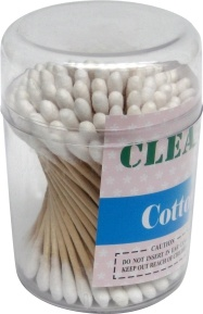 300PCS Disposable Plastic Stick Non-Bleached 100% Baby Cotton Buds pictures & photos