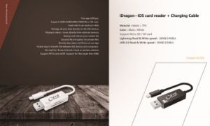 USB Cable for iPhone Charging with Card Reader 2 in 1 USB Cable Card Reader (OM-RC002) pictures & photos