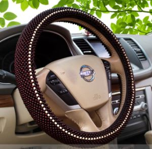 Luxury Wood Bead Car Steering Wheel Cover Sleeve with Pattern pictures & photos