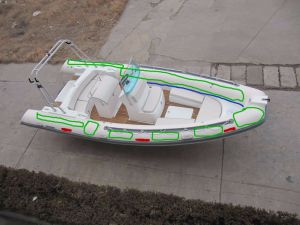 4.2m Fiberglass Rib Inflatable Rigid Hull Fiberglass Boat pictures & photos