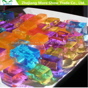 Hot Sale Water Double Color Cubes Water Beads Crystal Soil Decoration Wedding pictures & photos