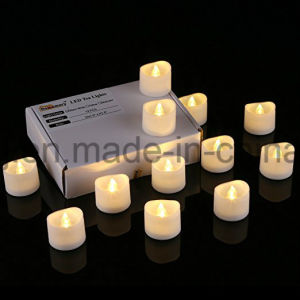 LED Tea Lights, 6h on/18h off Timer, Bright and Realistic, Pack of 12, 1.5 Inch Electric Flameless Novelty Candles/Fake Tea Light pictures & photos