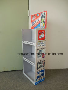 Cardboard Floor Display Stand Shelf with Three Trays, Pop Cardboard Display Manufacturer pictures & photos