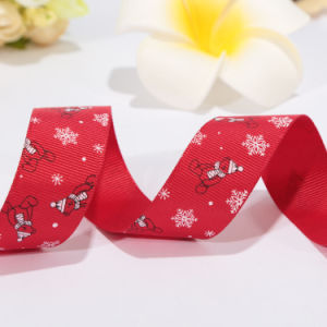 Beautiful Red Belt Christmas Ribbon Roll for Customized pictures & photos