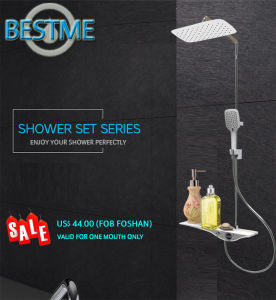 Brass Body Stainless Steel Bar Shower Set pictures & photos