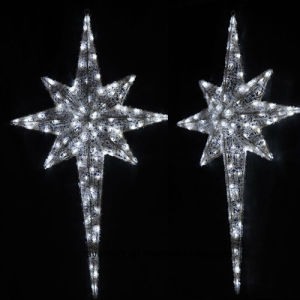 LED Pole Star Christmas Ornament Lights for Holiday Street Decoration pictures & photos