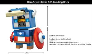 6731401-ABS Cartoon Hero Style Building Block pictures & photos