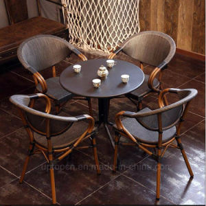 Vintage Cafe Rattan Restaurant Furniture for 4 Persons (SP-CT838) pictures & photos