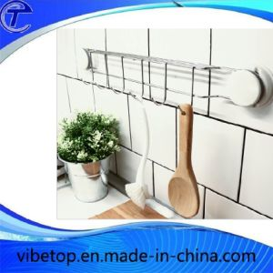 High Quality Stainless Steel Strong Sucker Free Punch Kitchen Bathroom Shelf pictures & photos