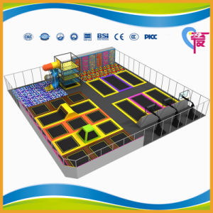 CE Approved Professional Trampoline Park with Climb Wall (A-15253) pictures & photos