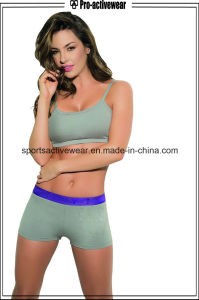 Wholesale Sexy Tight Women Polyester Gym Workout Shorts pictures & photos
