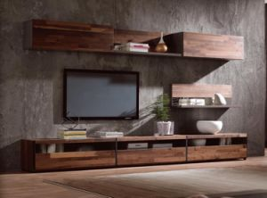 Luxury Style Modern Wood TV Cabinet Bench Set pictures & photos