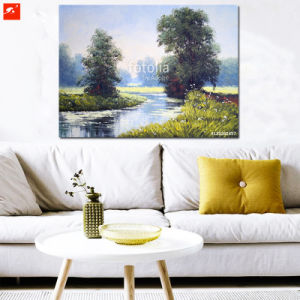 Spring Green Riverside Oil Painting for Home pictures & photos